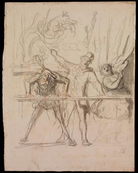 The Side Show Honoré Daumier