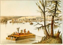 Bayou Sacra Luisiana - Henry Lewis 1854