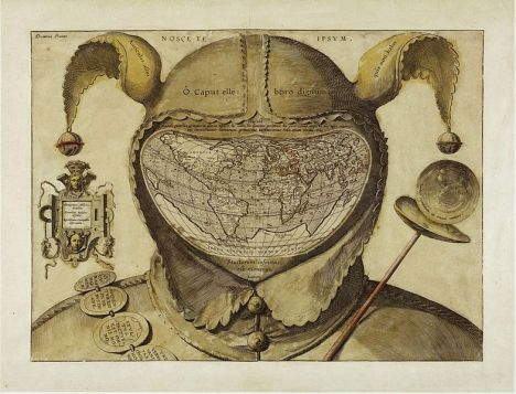 Fool's Cap Map of the World