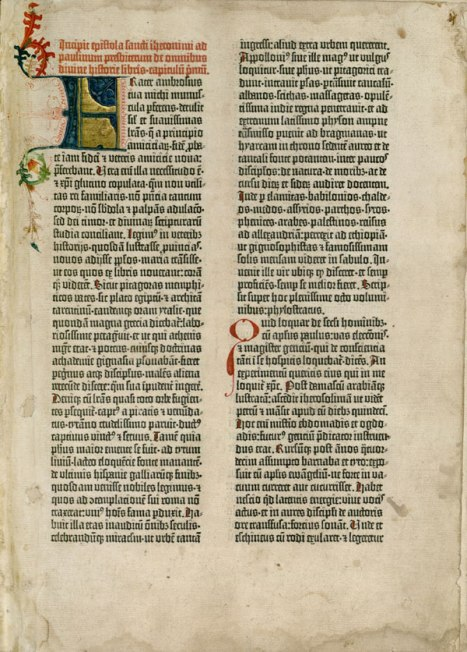 Gutenberg Bible - Epistle of St Jerome