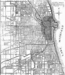 Chicago Fire Map - 1871